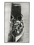 How the Titanic Survivors Were Picked Up by the Carpathia. Photographic Print
