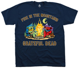 Grateful Dead- Fire In The Mountain  Camisetas