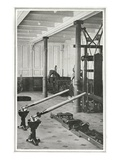 A Photograph of the Gymnasium on the Titanic. Photographic Print