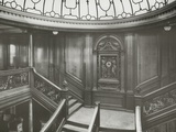 First Class Staircase, RMS Titanic, 04/01/1912. Photographic Print