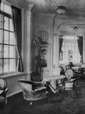 Inside RMS Olympic. The Reading and Writing Room on 'A' Deck. Photographic Print
