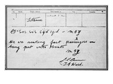 Titanic SOS Telegram. Photographic Print