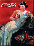 Coca Cola Woman in Evening Gown Cartel de chapa