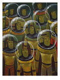 Brave Explorers of Yesteryear Reproduction procédé giclée par Aaron Jasinski