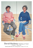 Tom and Charles Guard Collectable Print by David Hockney
