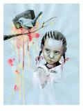 Oiseau Reproduction procédé giclée par Lora Zombie