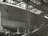RMS Titanic Nearing Launch, 05/01/1911. Photographic Print