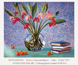 Red and Pink Ginger with Books and Oranges Collectable Print by David Hockney