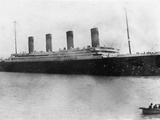 Titanic at Anchor Off Queenstown (Cobh), Ireland. Photographic Print