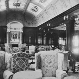 The Lounge, 'Lusitania'. Photographic Print