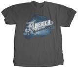 America - Blue Guitar T-Shirt