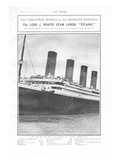 Loss of the Titanic. Photographic Print