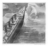 Titanic Hitting Iceberg. Photographic Print