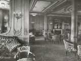 First Class Lounge, RMS Titanic, 04/01/1912. Photographic Print