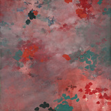 Blush Dappled Abstract Serigraph by Cédric Chauvelot