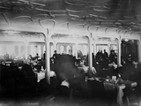First Class Dining Room of White Star Liner, RMS Titanic. Photographic Print