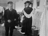 Woman Selling Irish Lace. Photographic Print