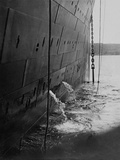 Raising the Anchor for the Last Time on the Titanic. Photographic Print