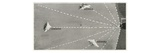 Need for Searchlights. Searchlights on Ocean Liners. Photographic Print