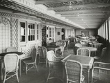 Café Parisien on RMS Titanic, 04/01/1912. Photographie