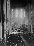 Titanic Memorial Mass. Requiem Mass for the Titanic's Victims in St. Photographic Print