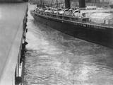 The 'New York' Swinging Towards the 'Titanic', Resulting in Near Collision. Photographic Print