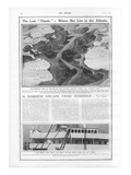 Location of Titanic Wreck. The Lost Titanic - Where She Lies in the Atlantic. Photographic Print