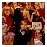Serpentine Soiree Giclee Print by Aaron Jasinski