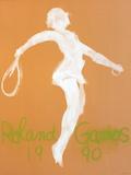 Roland Garros, 1990 Samlertryk af Claude Garache