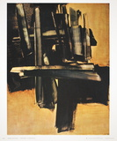 Peinture (16 Juillet 1961) Collectable Print by Pierre Soulages