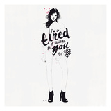 I'm So Tired Giclee Print by Manuel Rebollo