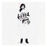 I'm So Tired Prints by Manuel Rebollo