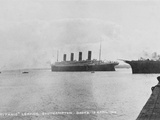 Titanic Leaving Southampton. Photographic Print