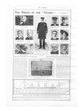 Titanic Story - The Sphere. Article - 'The Wreck on the Titanic'. Photographic Print