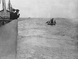 Titanic' at Portsmouth, Dropping the Pilot. Photographic Print
