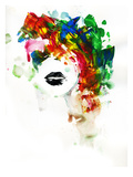 Black Lips Giclee Print by Lora Zombie
