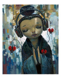 She Had Her Sources Premium Giclee Print by Aaron Jasinski