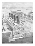 RMS Titanic, Cross-Section of White Star Liner. Photographic Print