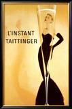 El momento Taittinger, en francés Póster