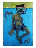 Fische Poster von Aaron Jasinski