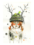 Sun Giclee Print by Lora Zombie