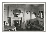 A Photograph of a Private Suite on Titanic. Photographic Print