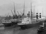 Liners in Southampton Dock. Photographed During the Titanic's Departure. Photographic Print