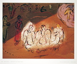 Abraham et Les Trois Anges Reproduction pour collectionneurs par Marc Chagall