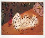 Abraham et Les Trois Anges Samlertryk af Marc Chagall