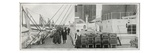 A Photograph of Passengers on the Promenade Deck. Photographic Print