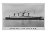 Postcard of the Titanic, Broadside View. Photographic Print
