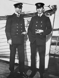 Marconi Operators; Jack Phillips and Friend, Taken Aboard the 'Adriatic'. Photographic Print