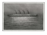 Titanic at Night. Illustration of Titanic at Night. Photographic Print