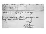 Titanic SOS. Telegram B. Photographic Print